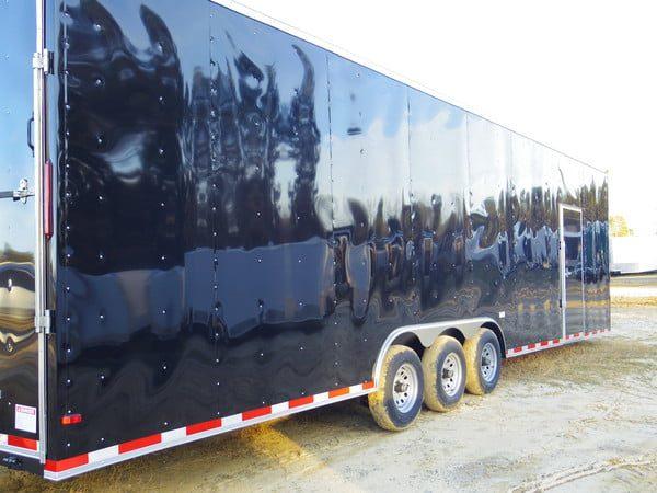 8 5 X 34 Rolling Vault Triple Axle Cargo Trailer Plain