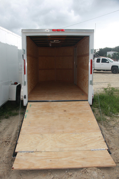 7' x 14' RollingVault Single Axle V Nose Trailer
