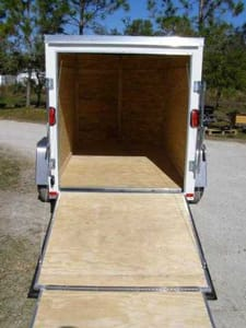 5' x 10' V Nose Single Axle Diamond Cargo Trailer