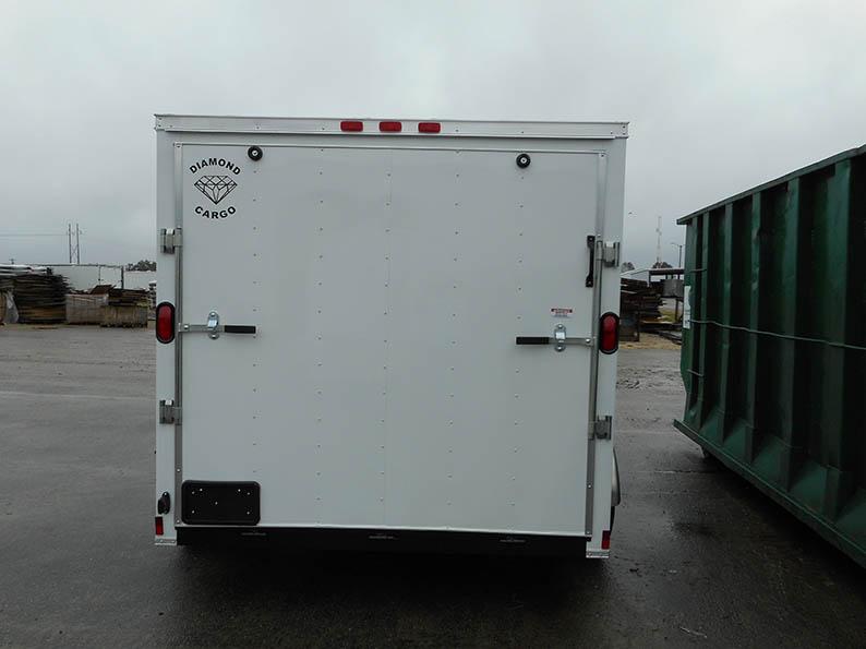7' x 10' V Nose Single Axle Diamond Cargo Trailer