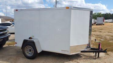 5' x 8' RollingVault V Nose Cargo Trailer