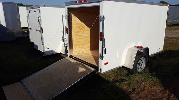 6' x 8' RollingVault Single Axle V Nose Cargo Trailer