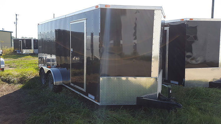 7' x 10' RollingVault Single Axle V Nose Trailer