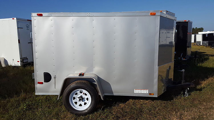 5' x 8' V Nose Single Axle Diamond Cargo Trailer