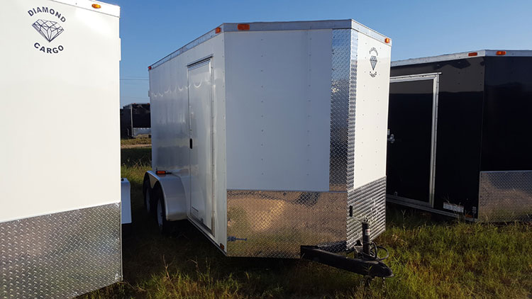 6' x 10' V Nose Tandem Axle Diamond Cargo Trailer