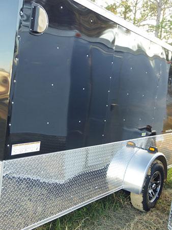 6' x 8' V Nose Single Axle Diamond Cargo Trailer