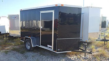 6' x 10' V Nose Single Axle Diamond Cargo Trailer
