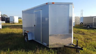 6' x 12' V Nose Single Axle Diamond Cargo Trailer