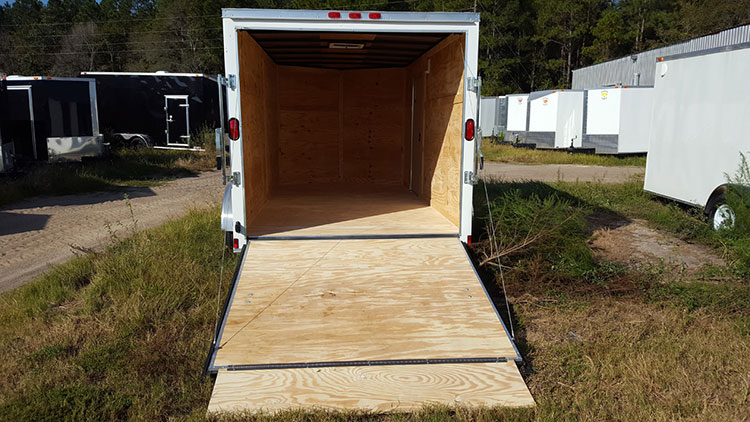 7' x 12' V Nose Single Axle Diamond Cargo Trailer
