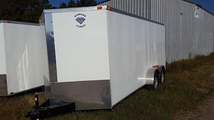 7' x 20' V Nose Tandem Axle Diamond Cargo Trailer