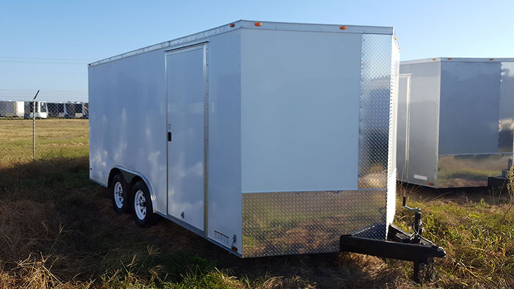 8.5' x 24' V Nose Tandem Axle Diamond Cargo Trailer