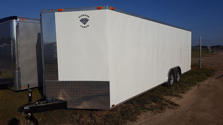 8.5' x 32' V Nose Tandem Axle Diamond Cargo Trailer