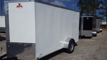 6' x 12' V Nose Tandem Axle Anvil Cargo Trailer