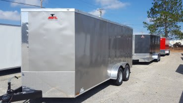 7' x 14' V Nose Tandem Axle Anvil Cargo Trailer