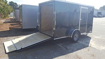 6' x 10' RollingVault Single Axle V Nose Cargo Trailer