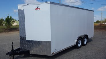 8.5' x 16' V Nose Tandem Axle Anvil Cargo Trailer