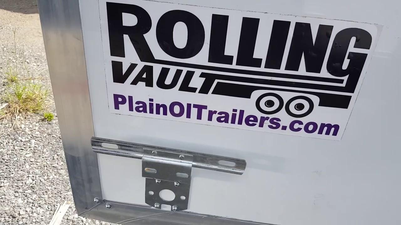 8.5' X 12' RollingVault V Nose SA Cargo Trailer