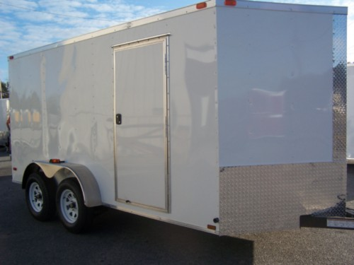 6' x 12' V Nose Tandem Axle Diamond Cargo Trailer