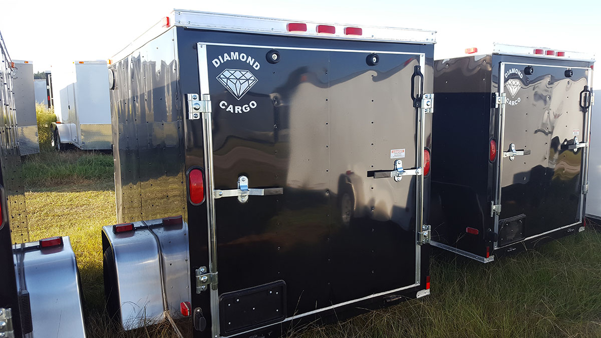 5' x 6' V Nose Single Axle Diamond Cargo Trailer