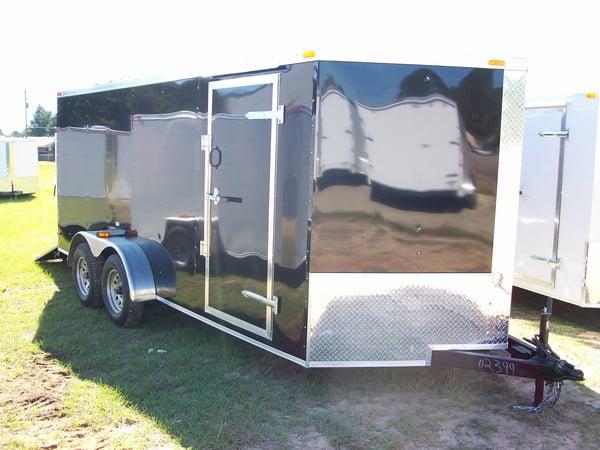 7 Foot Budget Enclosed Cargo Trailer Tandem Axle 1