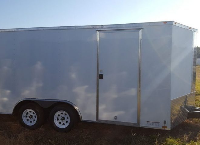 Diamond Cargo V Nose Tandem Axle 8.5x18 Trailers For Sale