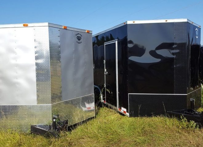 Diamond Cargo V Nose Tandem Axle 8.5x20 Trailers For Sale
