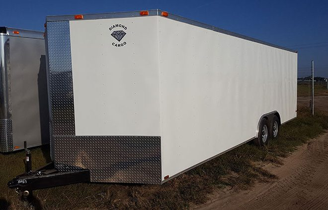 Diamond Cargo V Nose Tandem Axle 8.5x32 Trailers For Sale