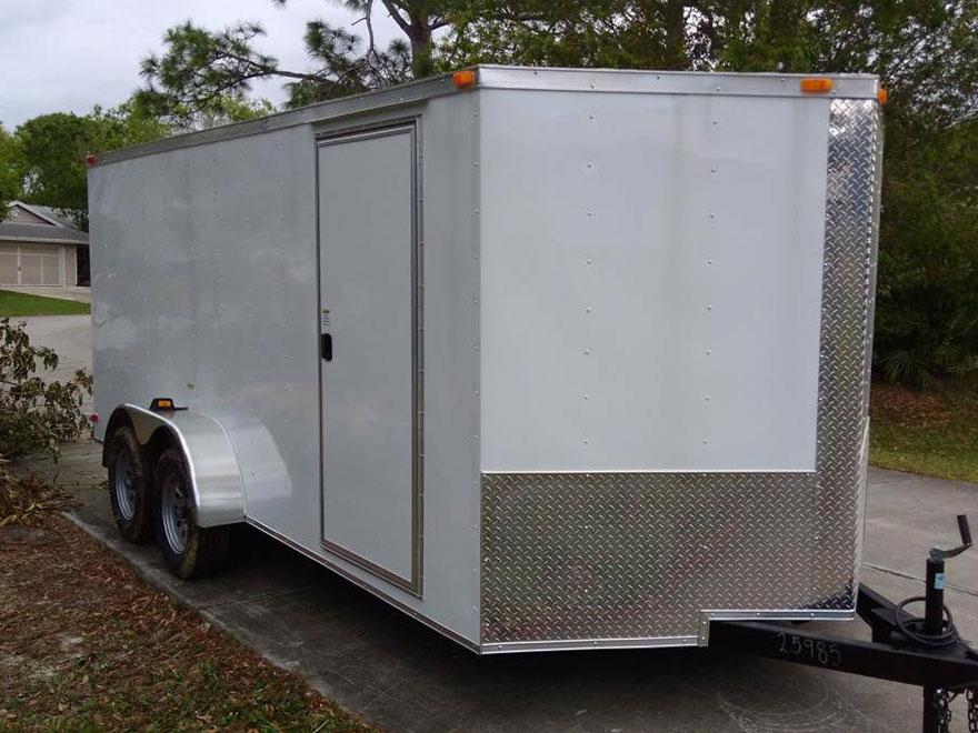 7 20 Enclosed Trailer South Georgia Cargo V Nose Tandem Axle Plain Ol Trailers